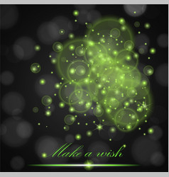 Green lights concept abstract on black ambient vector
