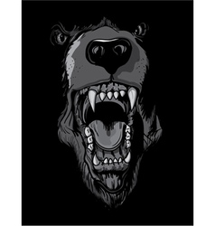 Grizzly bear t-shirt design vector