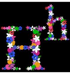 h letter vector image