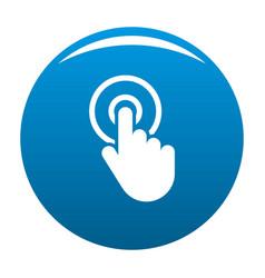 hand cursor click icon blue vector image vector image
