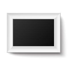 Horyzontal white A4 wooden frame vector image