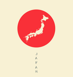 japan map background vector image