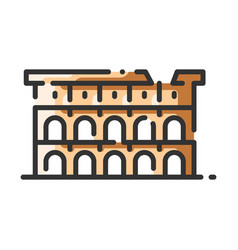 Landmark colosseum vector