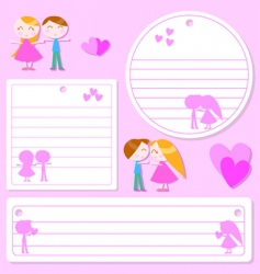 love sticker vector image