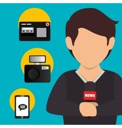 Mass media news graphic vector image