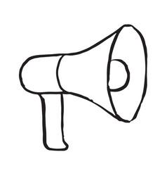 megafone storage doodle icon vector image