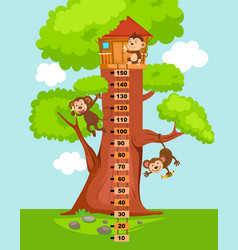 Meter wall with tree house vector