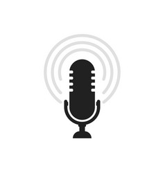 microphone icon speaker sound sign vector image