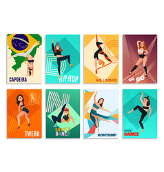 modern dances cards vector image