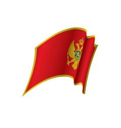 Montenegro flag vector