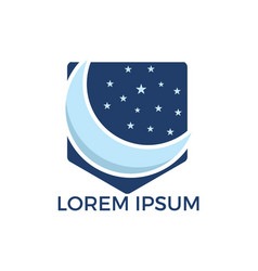 moon stars and night logo design vector image