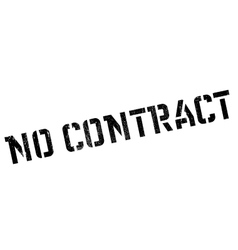 No contract rubber stamp vector