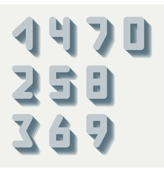 Number icons set vector