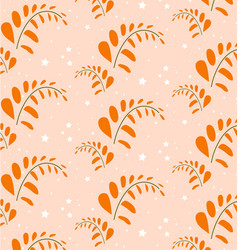 Orange leaf pattern style format vector