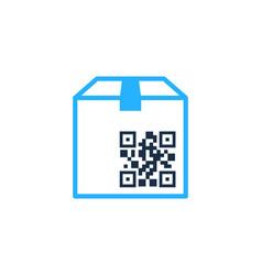 Package barcode logo icon design vector