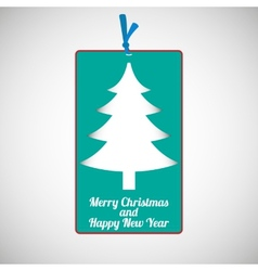 Paper cardboard Christmas card vector image