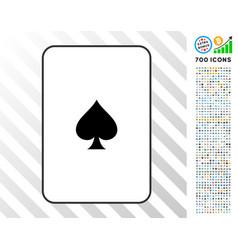 peaks suit card with bonus vector image
