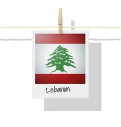 Photo of lebanon flag vector