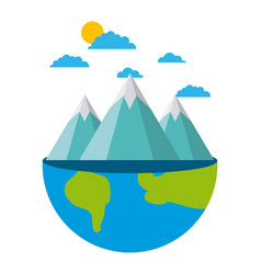 planet earth ecology and environment flat vector image