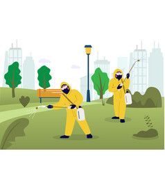 professional pest control services flat vector image