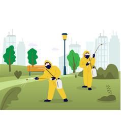Professional pest control services flat vector