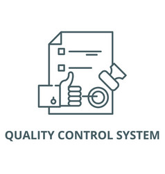 Quality control system line icon linear vector