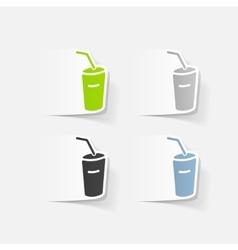 Realistic design element soda vector
