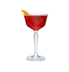 Red realistic cocktail vector