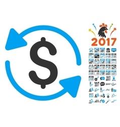 Refresh Balance Icon With 2017 Year Bonus Symbols vector