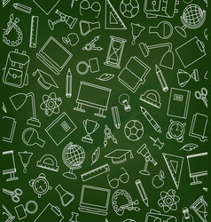 school education seamless pattern education vector image