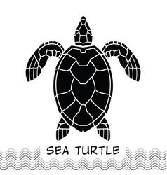 sea turtle icon 02 vector image
