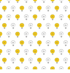 Seamless light bulbs pattern texture background vector image