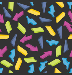 seamless pattern with colorful isometric arrows vector image