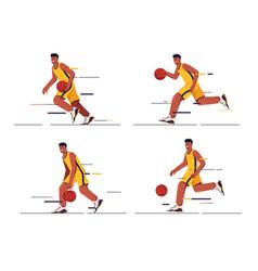 set a basketball player vector image