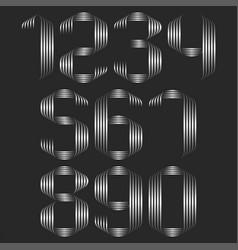 Set numbers monogram lineart trendy decoration vector