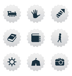 set of simple infant icons vector image