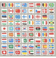 set world states flags vector image