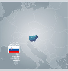 slovenia information map vector image
