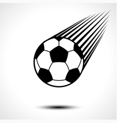 soccer ball or football speeding through the air vector image