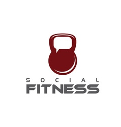 Social fitness concept vector