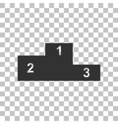 Sofa sign Flat style icon Dark gray vector