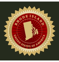 Star label Rhode Island vector image