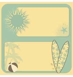 Summer retro background vector