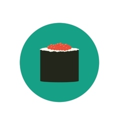 Sushi roll with caviar vector