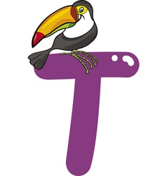 T for toucan vector