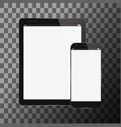 tablet pc with mobile smartphone vector image