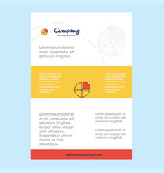 template layout for pie chart comany profile vector image