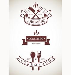templates restaurant logos vector image