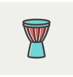 Timpani thin line icon vector image