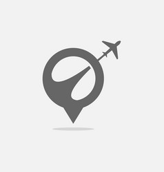 travel logo design template vector image